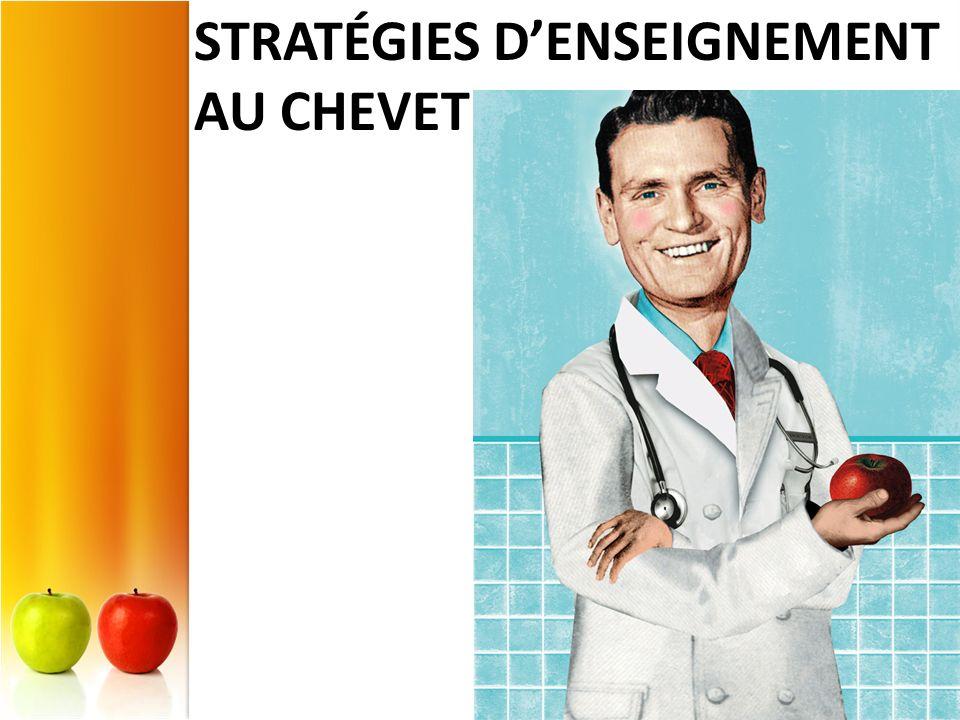 Stratégies d'enseignement au chevet