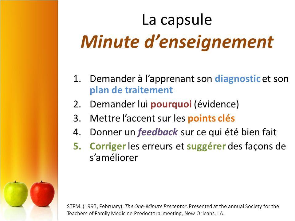 La capsule Minute d'enseignement