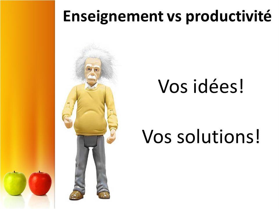 Enseignement vs productivité