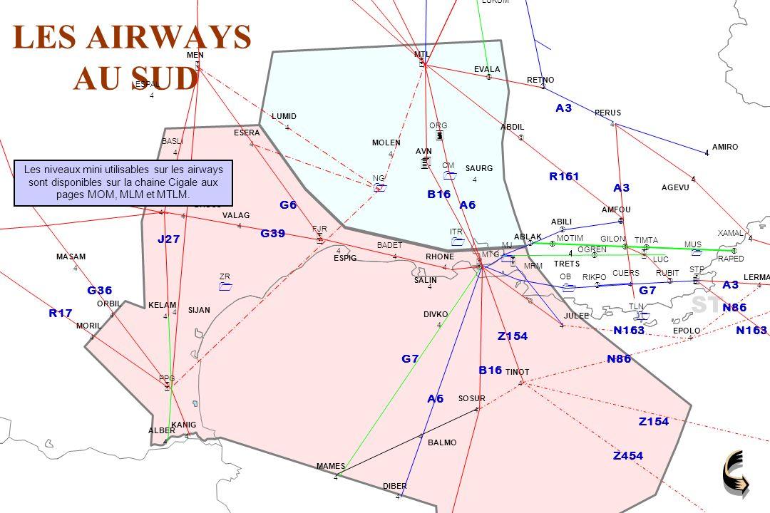 LES AIRWAYS AU SUD ST 3 4 5 1 J27 A27 G39 G6 A6 B16 G7 Z154 Z454 A3