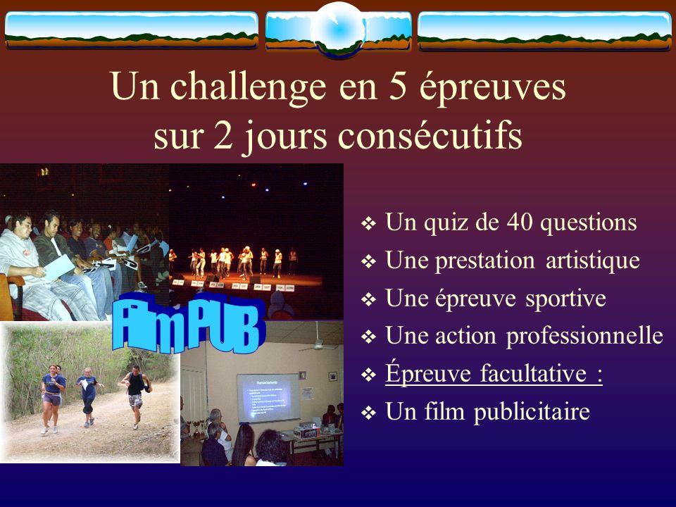 Un challenge en 5 épreuves sur 2 jours consécutifs