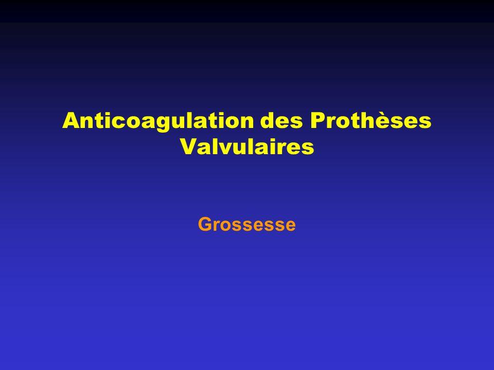 Anticoagulation des Prothèses Valvulaires