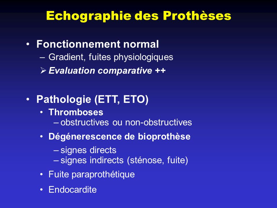 Echographie des Prothèses