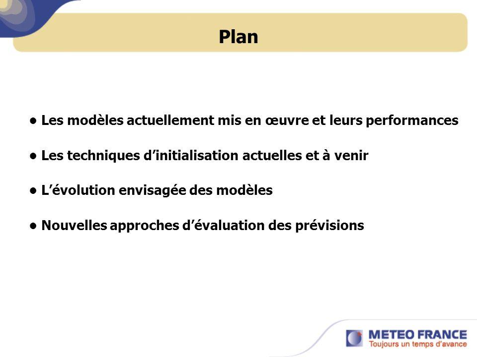 Plan • Les modèles actuellement mis en œuvre et leurs performances