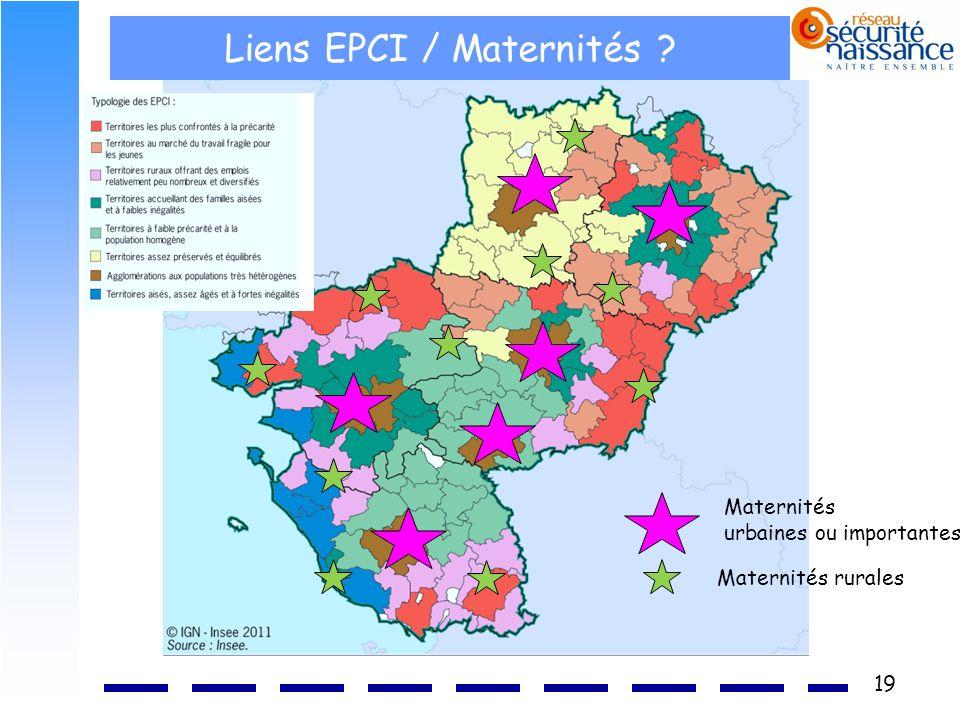 Liens EPCI / Maternités