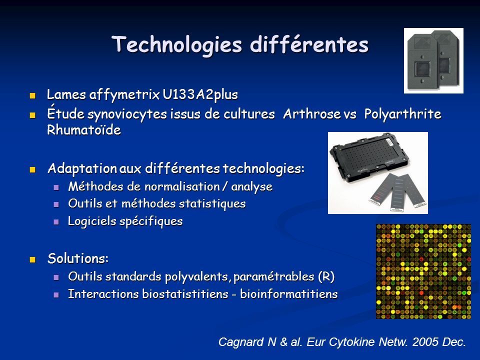 Technologies différentes