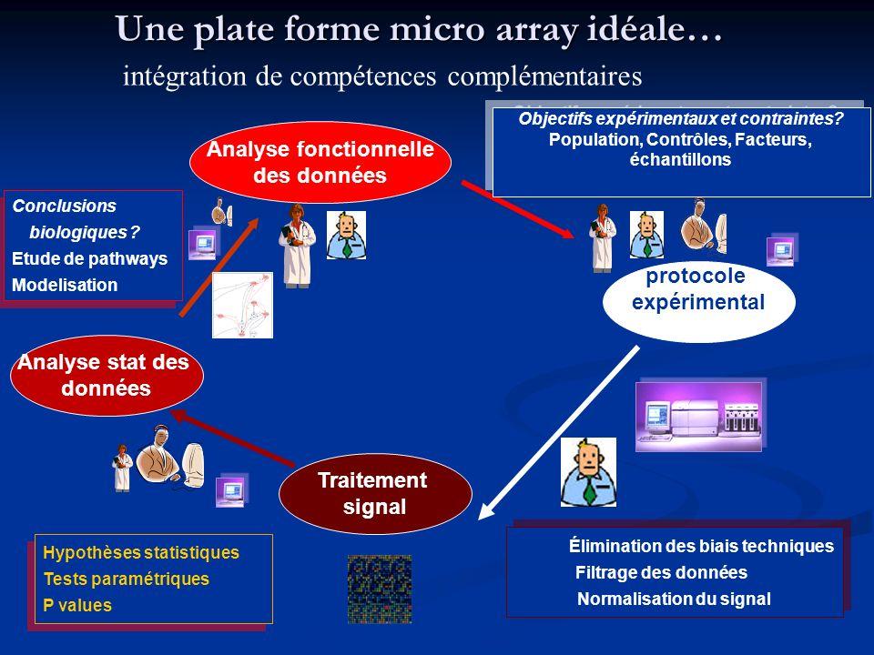 Une plate forme micro array idéale…