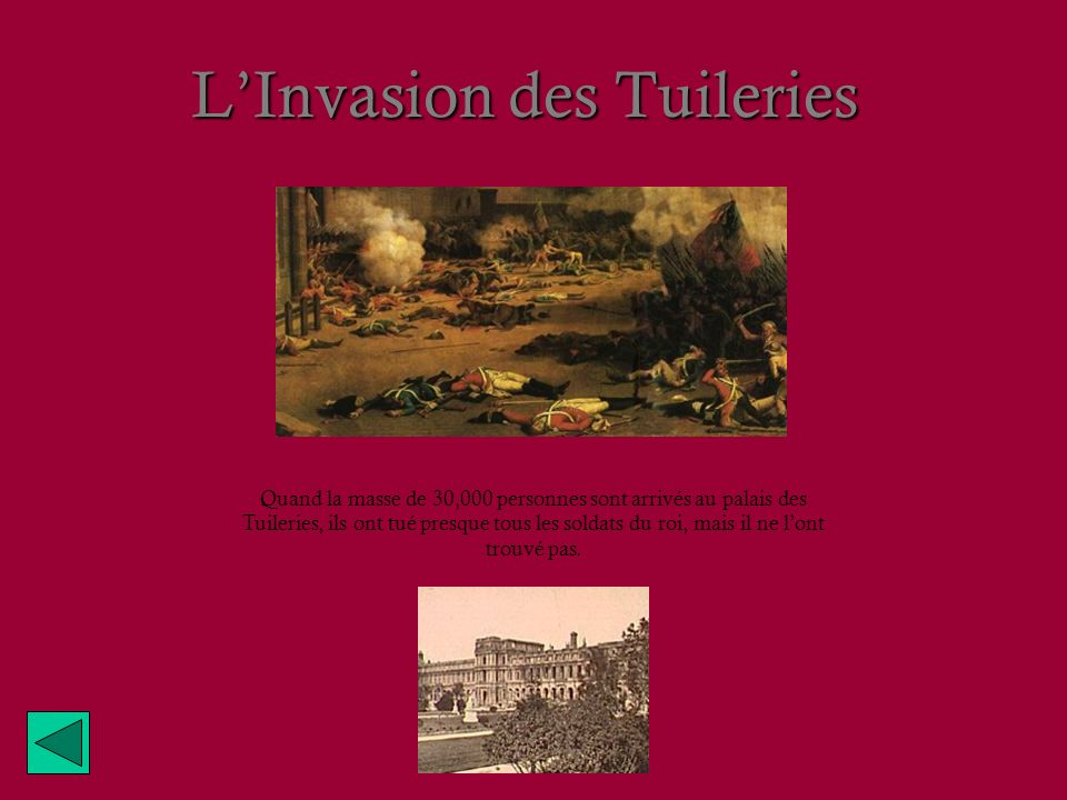 L'Invasion des Tuileries
