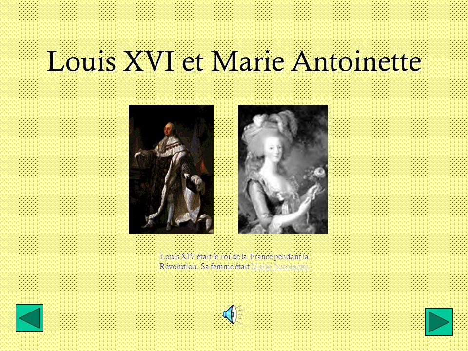 Louis XVI et Marie Antoinette