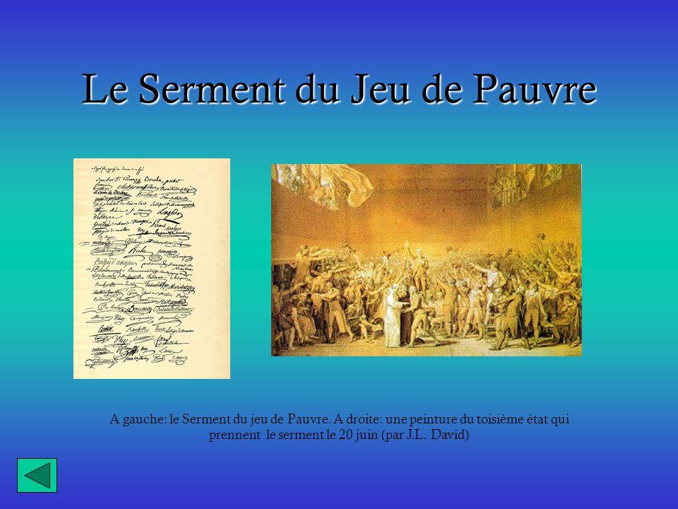 Le Serment du Jeu de Pauvre