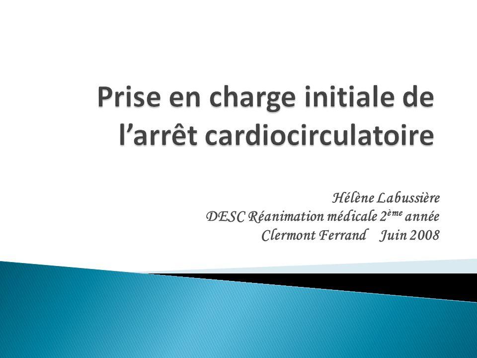 Prise en charge initiale de l'arrêt cardiocirculatoire