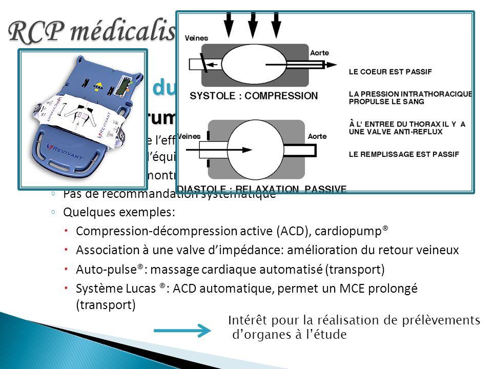 RCP médicalisée Poursuite du MCE MCE instrumental