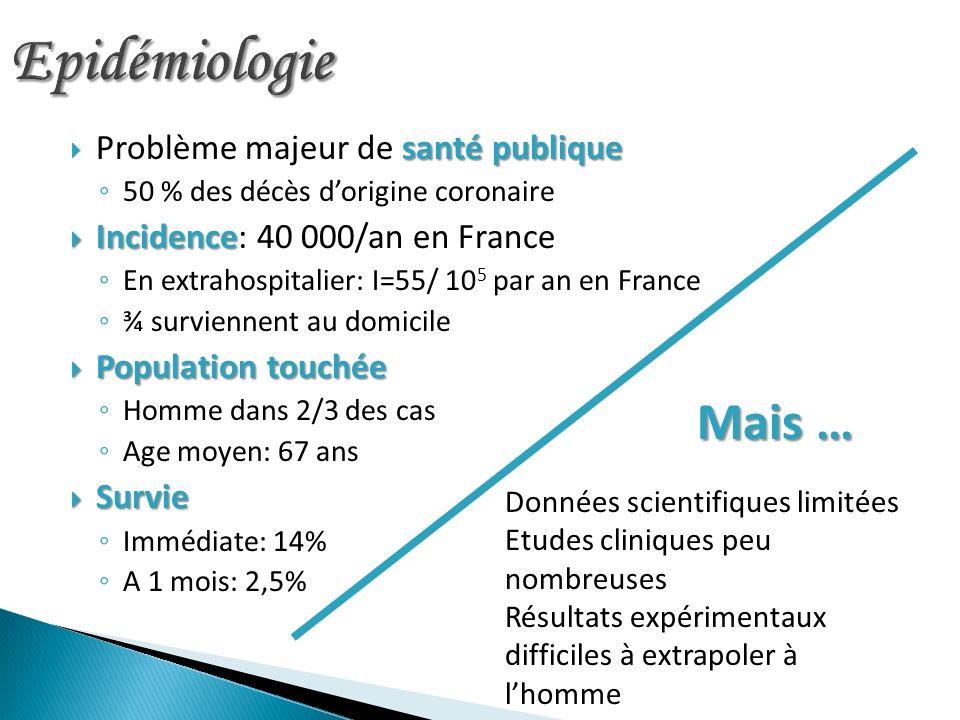 Epidémiologie Problème majeur de santé publique