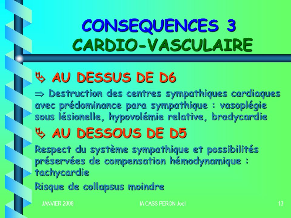 CONSEQUENCES 3 CARDIO-VASCULAIRE