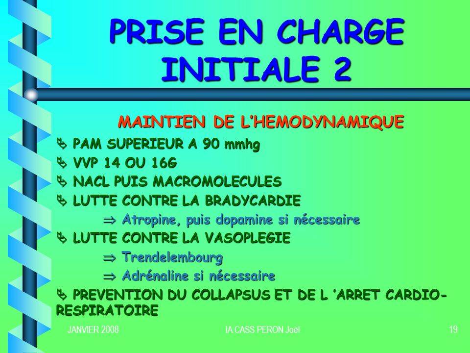 PRISE EN CHARGE INITIALE 2