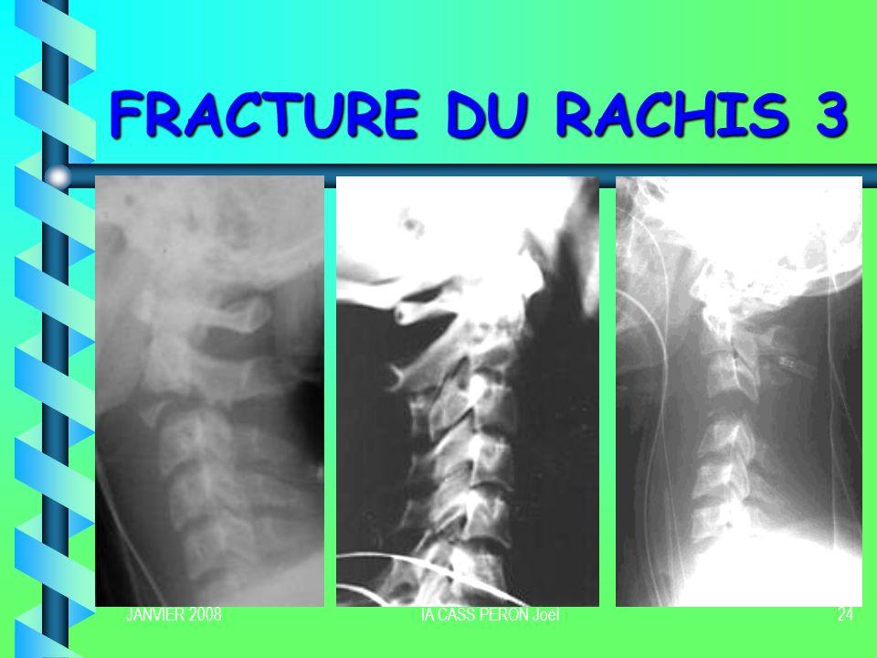 FRACTURE DU RACHIS 3 JANVIER 2008 IA CASS PERON Joël