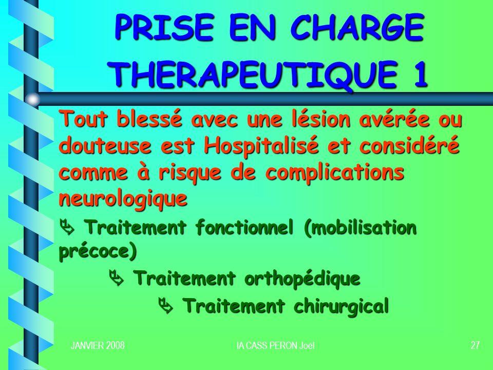 PRISE EN CHARGE THERAPEUTIQUE 1