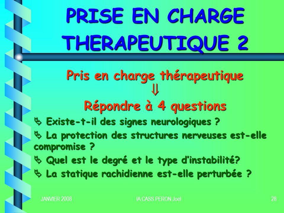 PRISE EN CHARGE THERAPEUTIQUE 2