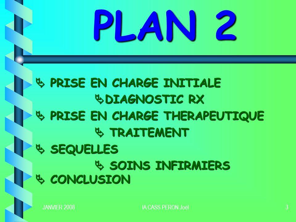PLAN 2  PRISE EN CHARGE INITIALE DIAGNOSTIC RX