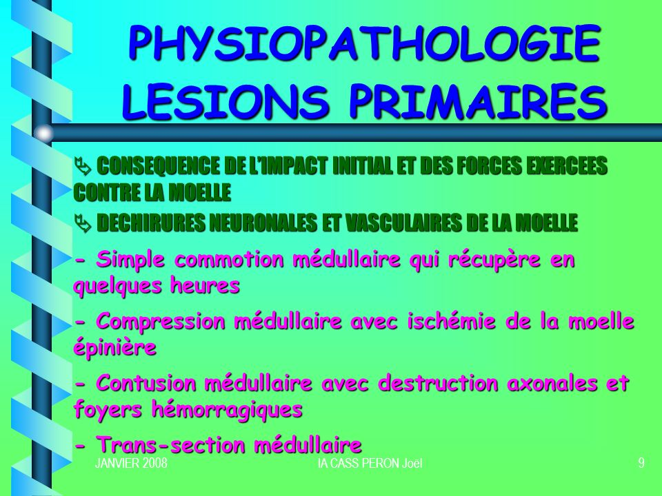 PHYSIOPATHOLOGIE LESIONS PRIMAIRES
