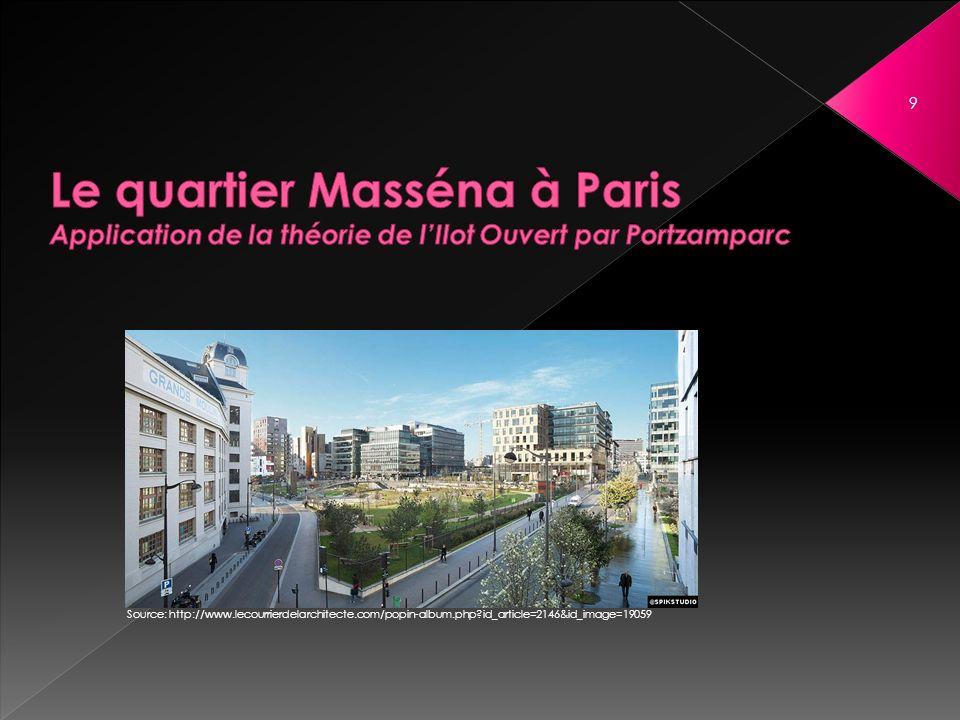 Le quartier Masséna à Paris Application de la théorie de l'Ilot Ouvert par Portzamparc