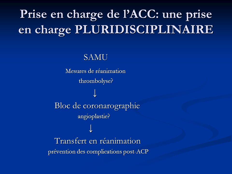 Prise en charge de l'ACC: une prise en charge PLURIDISCIPLINAIRE