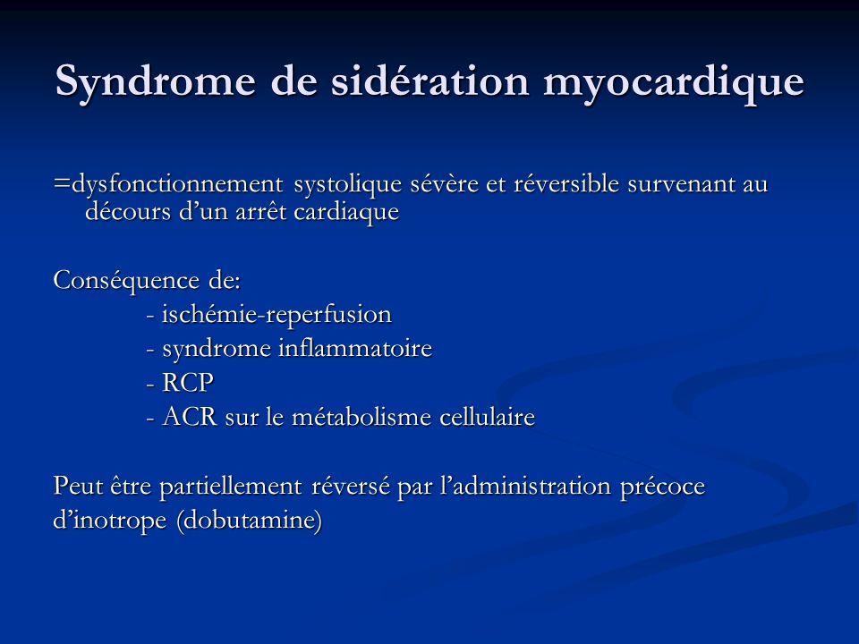 Syndrome de sidération myocardique