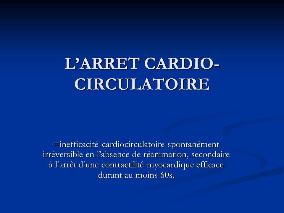 L'ARRET CARDIO-CIRCULATOIRE
