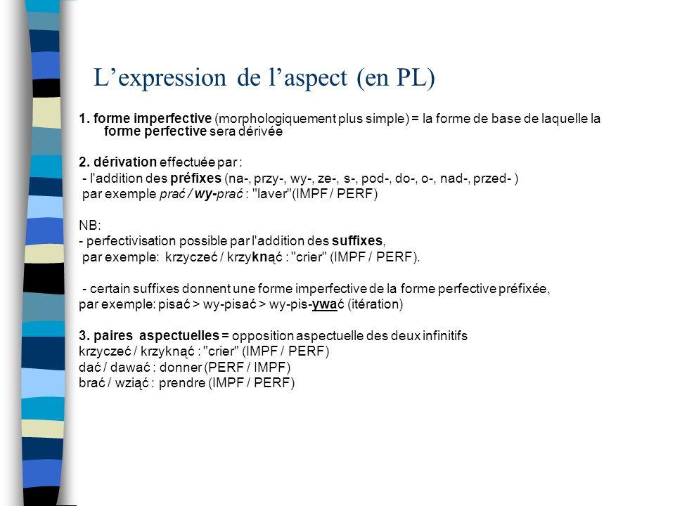 L'expression de l'aspect (en PL)