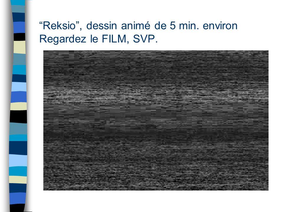 Reksio , dessin animé de 5 min. environ Regardez le FILM, SVP.