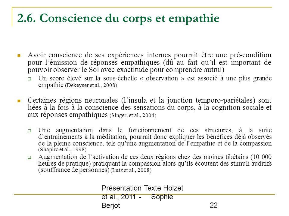 2.6. Conscience du corps et empathie