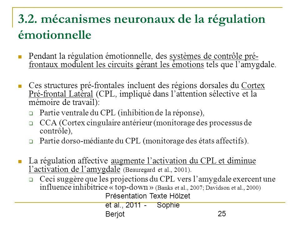 3.2. mécanismes neuronaux de la régulation émotionnelle