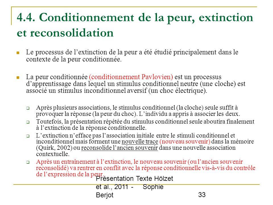 4.4. Conditionnement de la peur, extinction et reconsolidation
