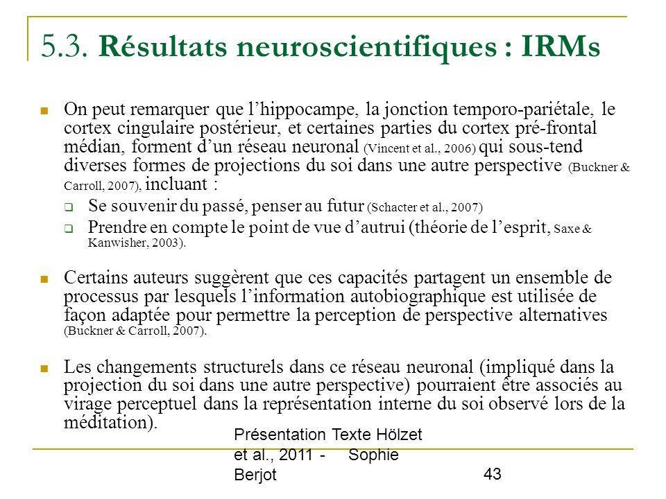 5.3. Résultats neuroscientifiques : IRMs
