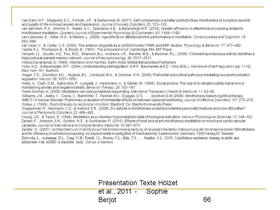 Présentation Texte Hölzet et al., 2011 - Sophie Berjot