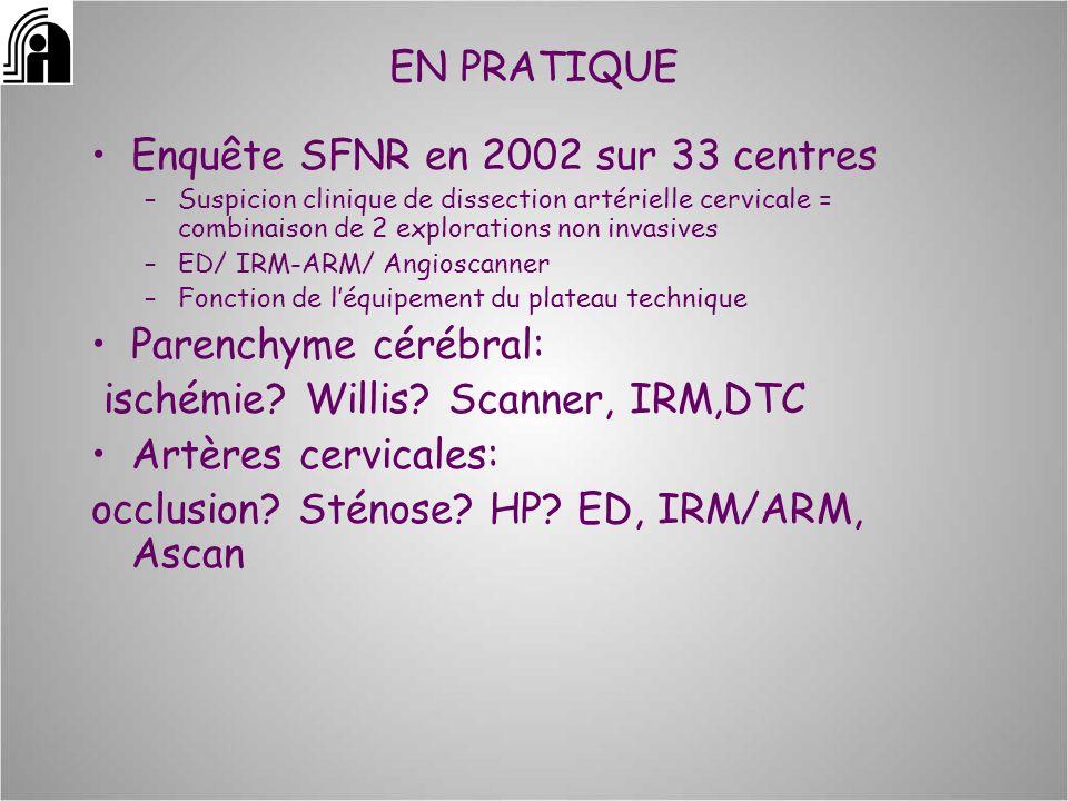 Enquête SFNR en 2002 sur 33 centres