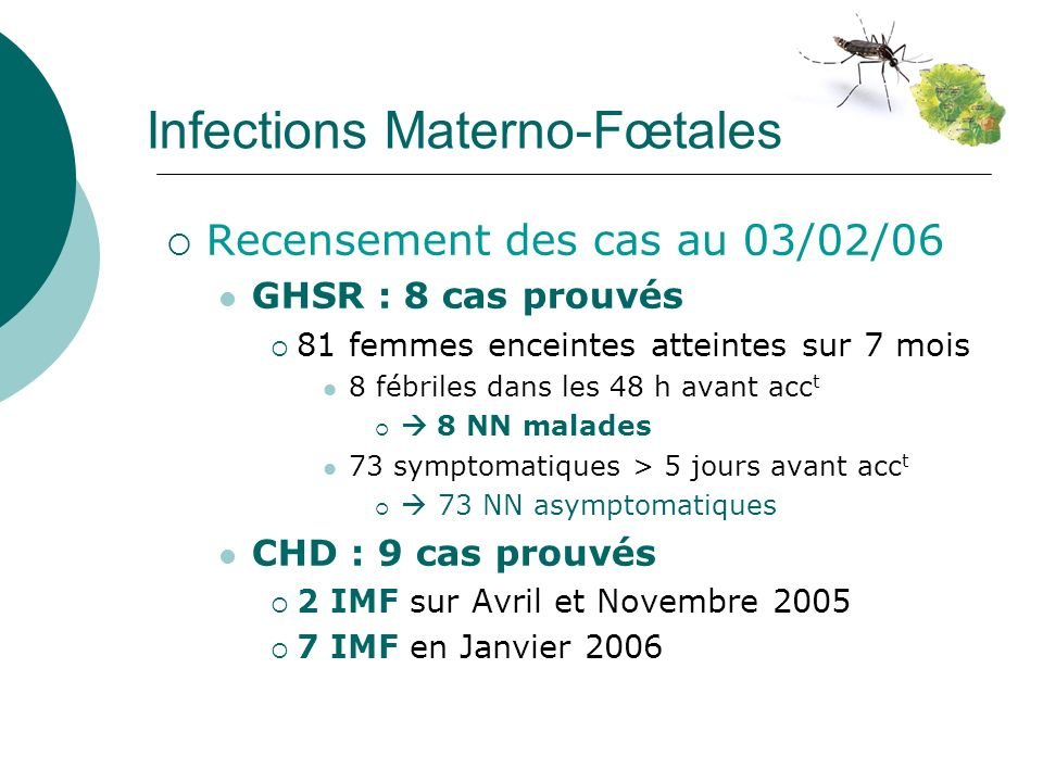 Infections Materno-Fœtales
