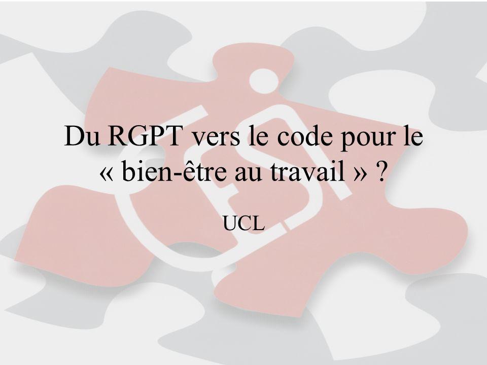 Du RGPT vers le code pour le « bien-être au travail »