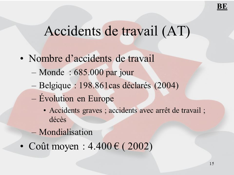 Accidents de travail (AT)
