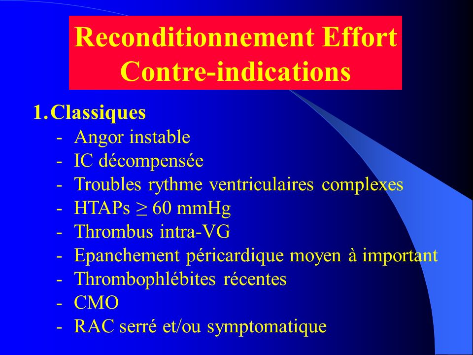 Reconditionnement Effort