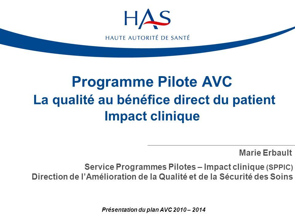 Présentation du plan AVC 2010 – 2014