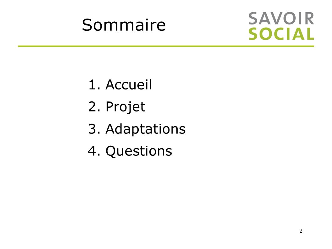 Sommaire Accueil Projet Adaptations Questions