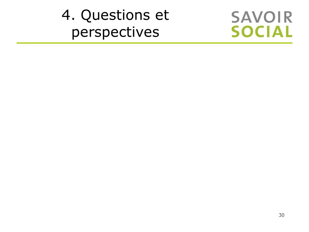 4. Questions et perspectives