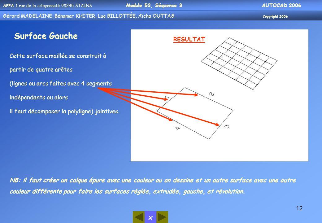 Surface Gauche RESULTAT