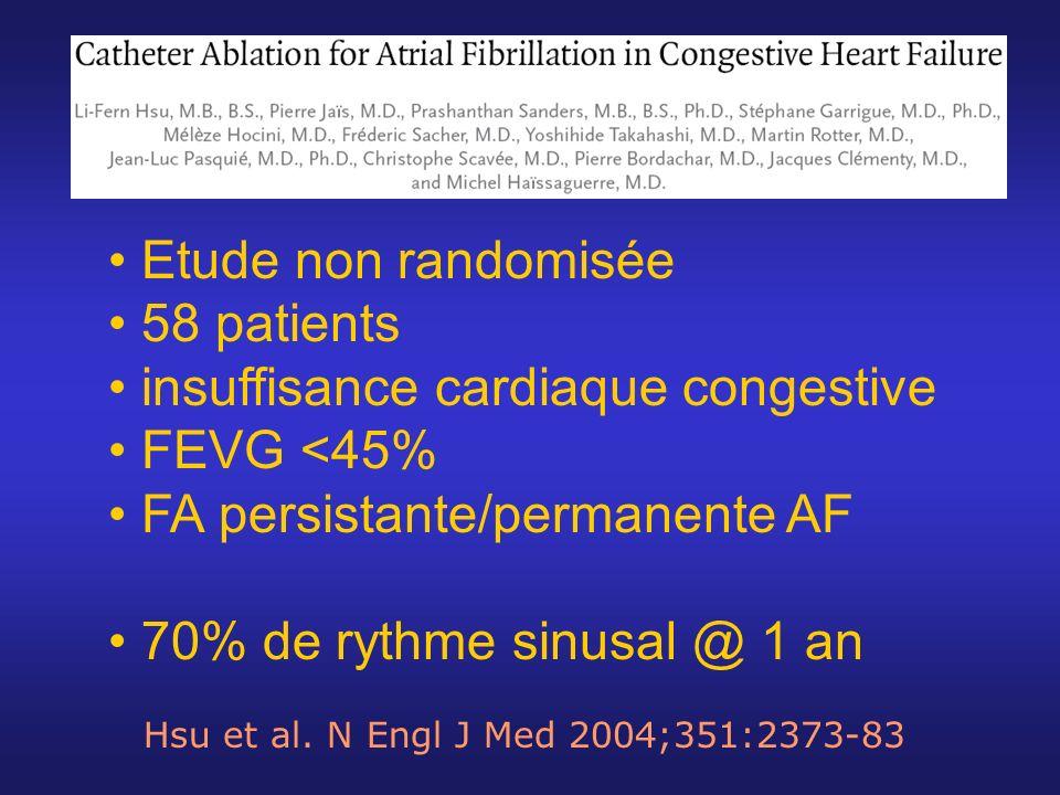 insuffisance cardiaque congestive FEVG <45%