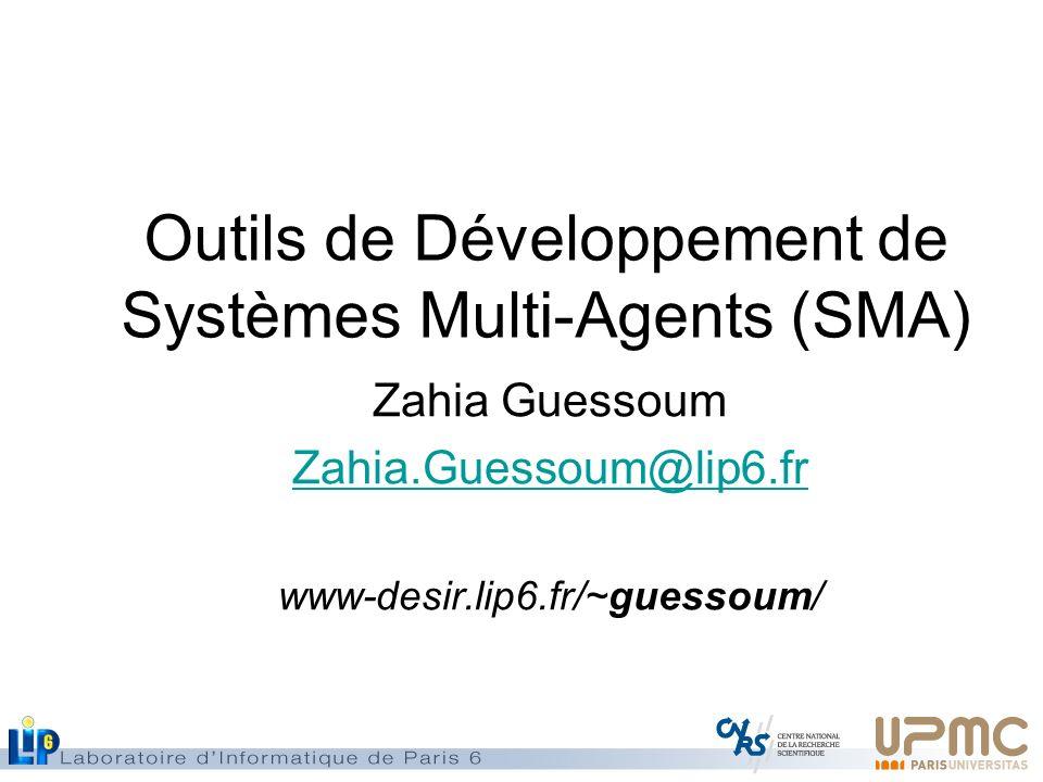 Outils de Développement de Systèmes Multi-Agents (SMA)