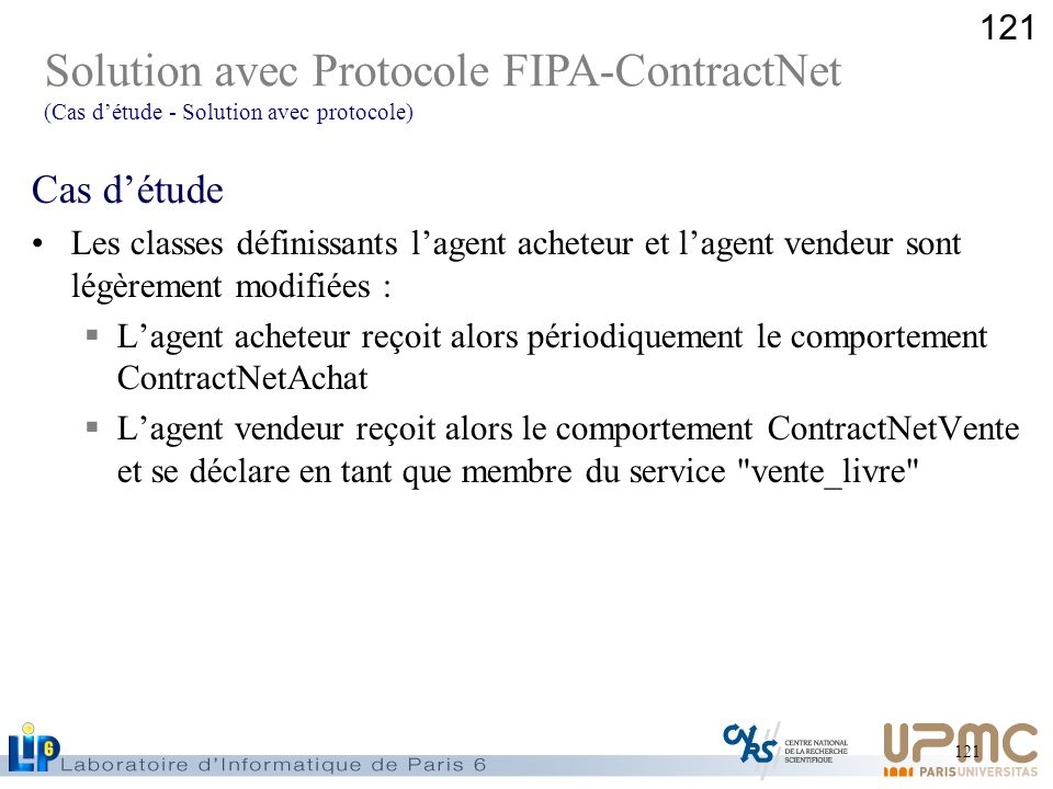 Solution avec Protocole FIPA-ContractNet