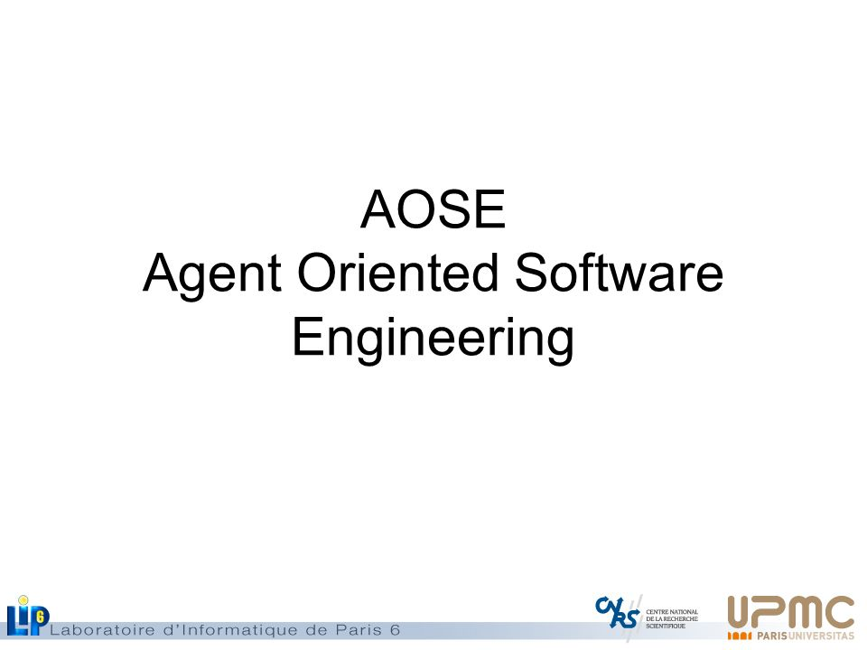 AOSE Agent Oriented Software Engineering