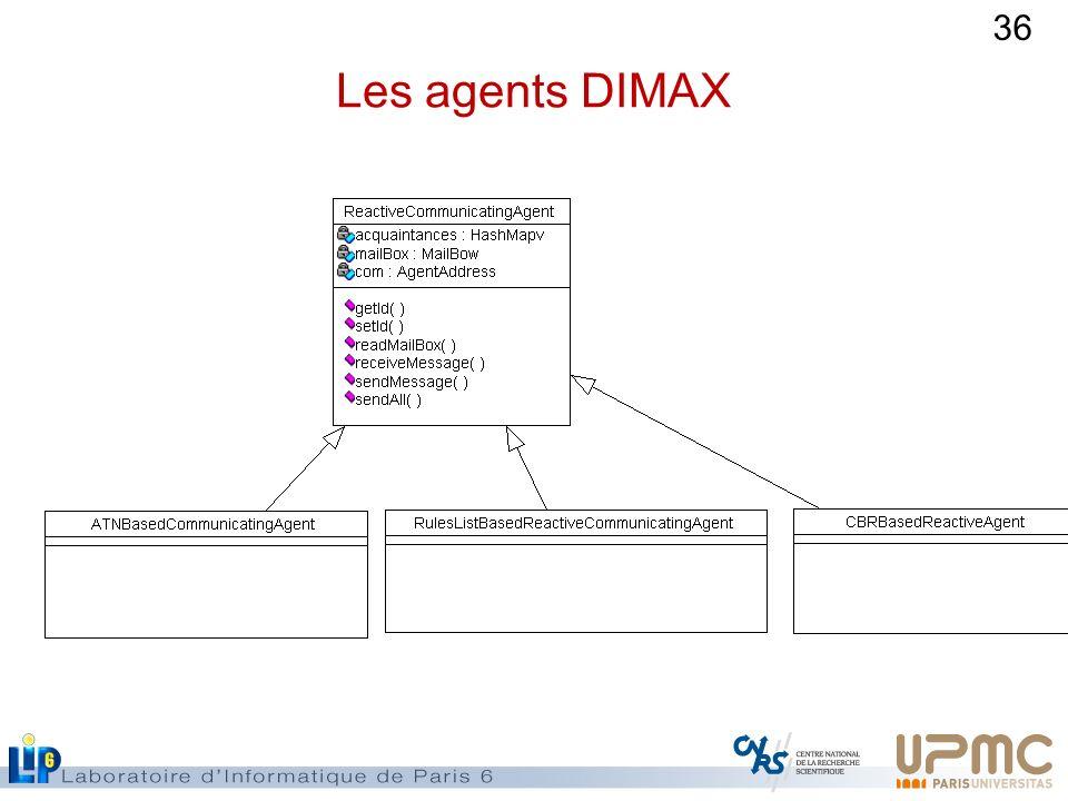 Les agents DIMAX