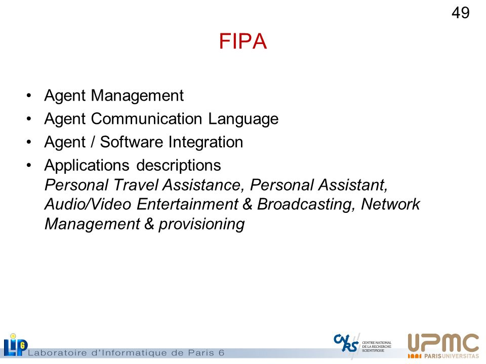 FIPA Agent Management Agent Communication Language